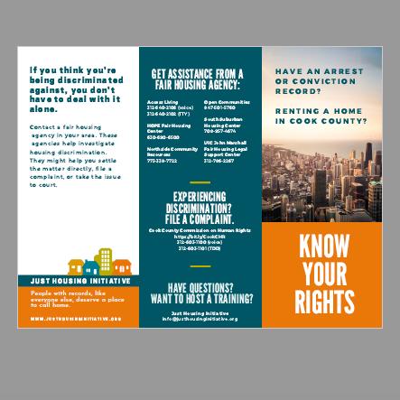 Display of brochure panels